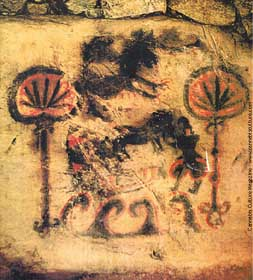 Cave Painting of Flowers